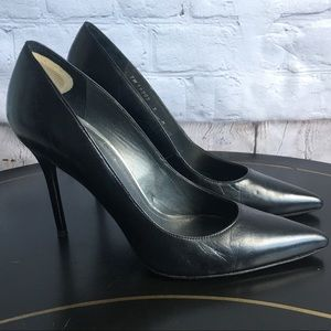 Stuart Weitzman Black High Heel Pointed Toe 9M